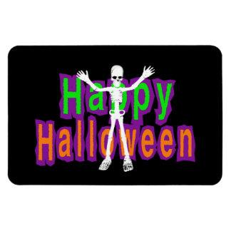 Happy Halloween Skeleton Rectangle Magnet
