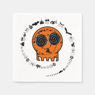 HAPPY HALLOWEEN [skull 2] Paper Serviettes