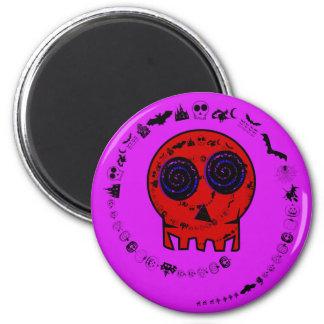 HAPPY HALLOWEEN [skull 5] 6 Cm Round Magnet