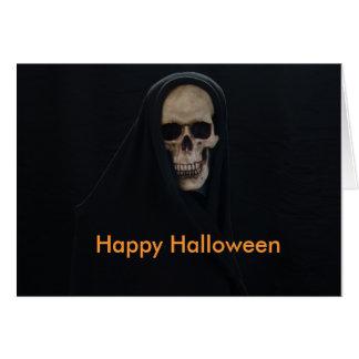 Happy Halloween Skull Greeting Card