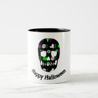 Happy Halloween skull mug
