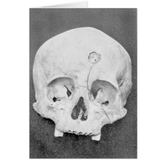 Happy Halloween skull occult Halloween card