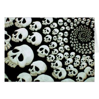 Happy Halloween Skull Swirl Card