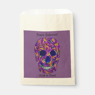 Happy Halloween Skull Trick or Treat Candy Bags