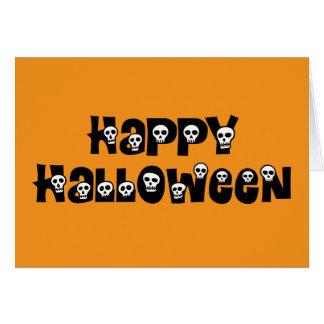 Happy Halloween Skulls Card