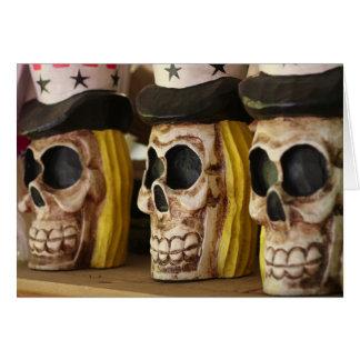 Happy Halloween skulls occult Halloween card