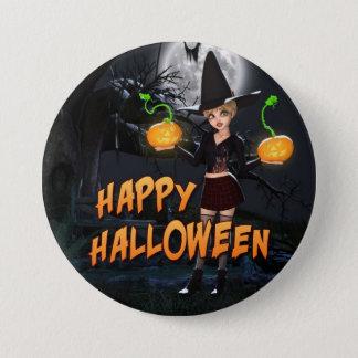 Happy Halloween Skye Button