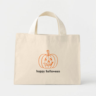 Happy Halloween small bag with Jack-o-lantern