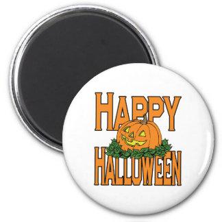 Happy Halloween Smiling Pumpkin Fridge Magnet