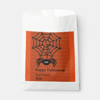 Happy Halloween Spider Personalized Favor Bags Favour Bags