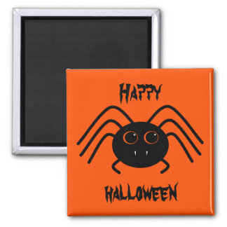 Happy Halloween spider Square Magnet
