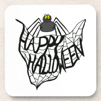 Happy Halloween Spider Web Coaster