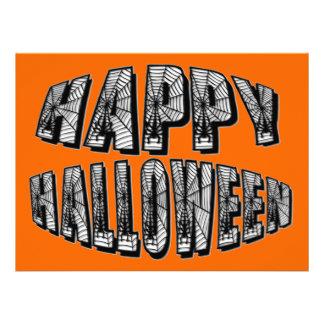 Happy Halloween Spiders & Spider Web Invitation