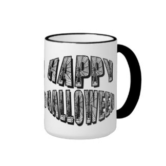 Happy Halloween Spiders & Spider Web Mug