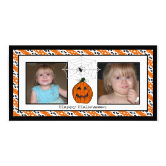 Happy Halloween Spiderweb Photo Cards