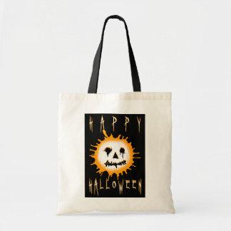 happy halloween : splatolantern budget tote bag