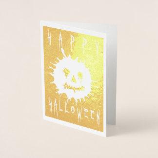Happy Halloween Splatolatern Foil Card