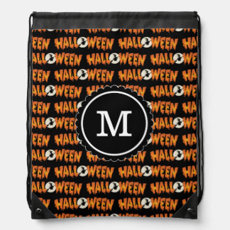 Happy Halloween Spook Drawstring Bags