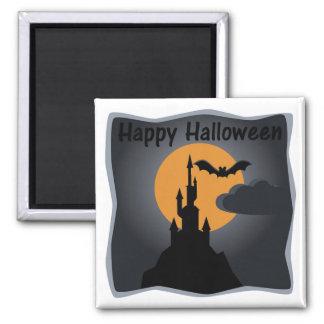Happy Halloween Spooky Castle Magnet