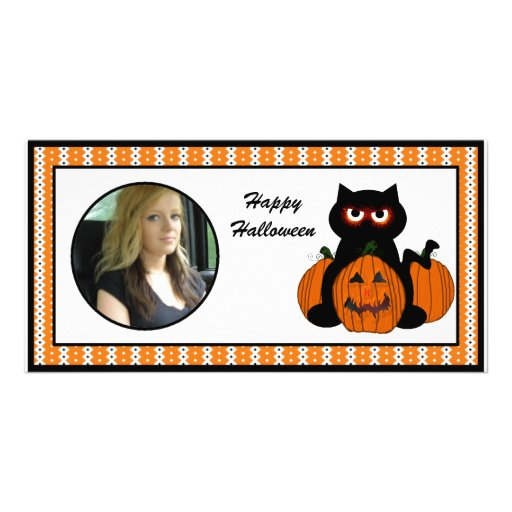 Happy Halloween Spooky Cat Photo Cards