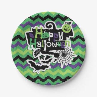 Happy Halloween Spooky Fun Paper Plate