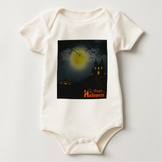 Happy Halloween Spooky House Baby Bodysuit