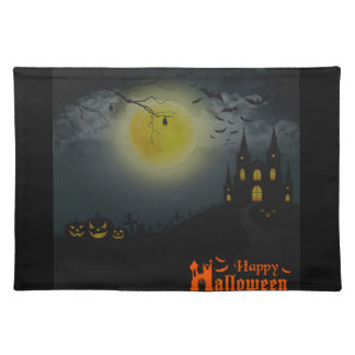 Happy Halloween Spooky House Placemat