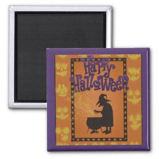 Happy Halloween Square Magnet