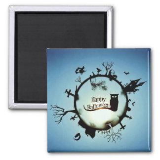 HAPPY HALLOWEEN! SQUARE MAGNET