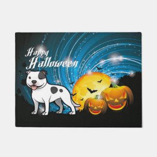 Happy Halloween Staffordshire Bull Terrier Doormat