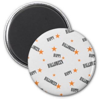 Happy Halloween, starts pattern 6 Cm Round Magnet