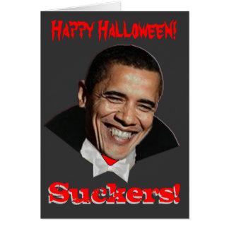 Happy Halloween Suckers Obama Halloween Card