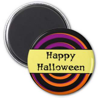 Happy Halloween Swirl Candy Magnet