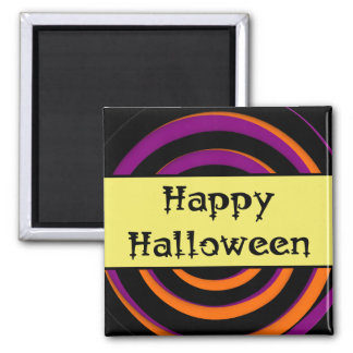 Happy Halloween Swirl Candy Magnet