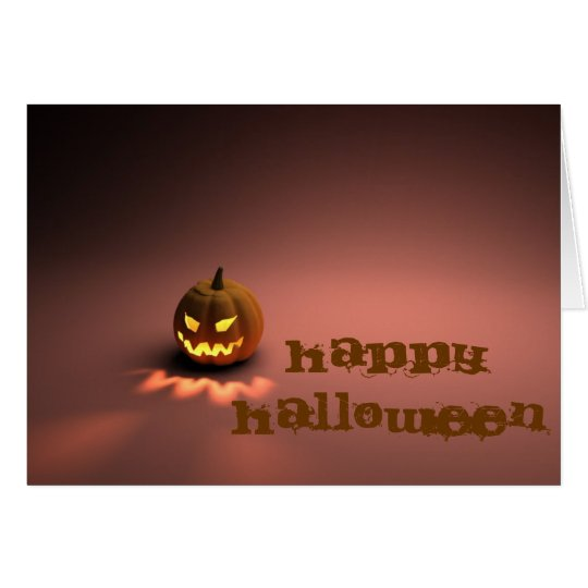 Happy Halloween tcard Card