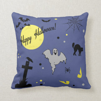 Happy Halloween Throw Pillow