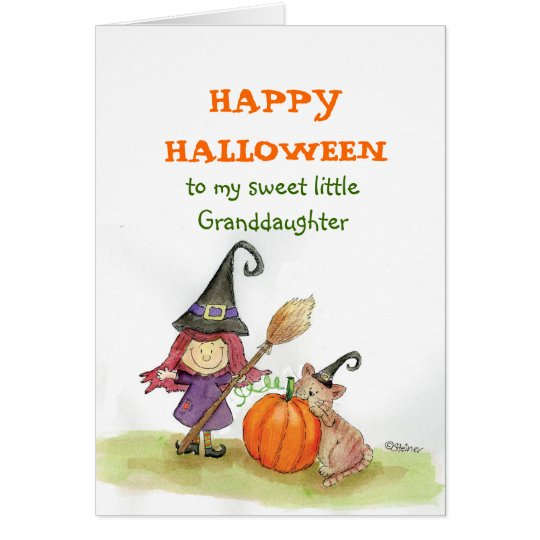 Happy Halloween to my Granddaughter Card