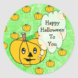 Happy Halloween To You Cute Pumpkin Stickers