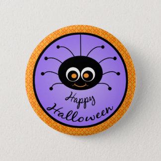 Happy Halloween Toon Spider 6 Cm Round Badge
