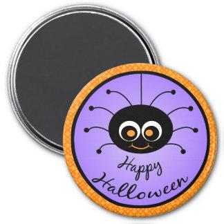 Happy Halloween Toon Spider Refrigerator Magnet