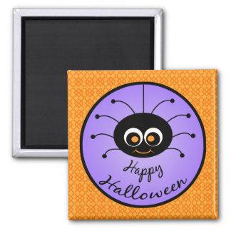 Happy Halloween Toon Spider Fridge Magnet