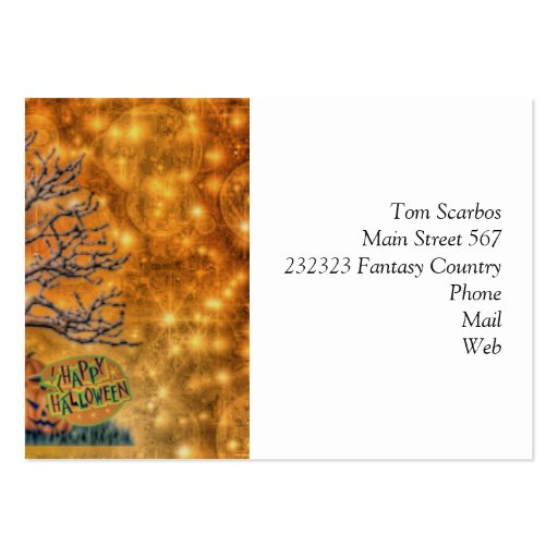 happy halloween,tree business card template