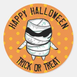 Happy Halloween Trick or Treat Mummy Stickers