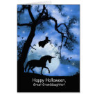 Happy Halloween Unicorn, Witch Great Granddaughter Card