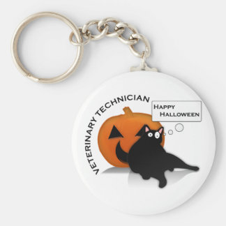Happy Halloween Vet Tech! Key Ring
