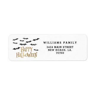 Happy Halloween Watercolor Bats