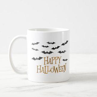 Happy Halloween Watercolor Bats Coffee Mug