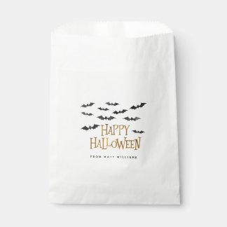 Happy Halloween Watercolor Bats Favour Bags