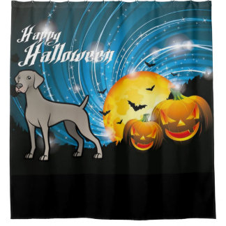 Happy Halloween Weimaraner Shower Curtain