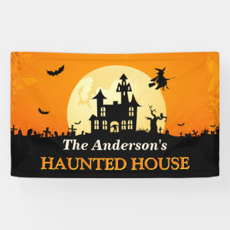 Happy Halloween - Welcome to Creepy Haunted House Banner